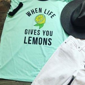 Lularoe Liv When Life Gives You Lemons Graphic Top